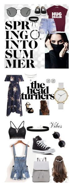 """Summer Go To"" by lilmainella on Polyvore featuring Lokai, Boohoo, Ray-Ban, Skagen, Frederic Sage, Urban Outfitters, 2028, Converse and ASOS"