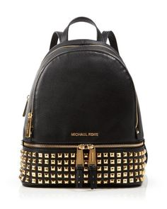 Michael Kors' Small Rhea Studded Backpack is perfect for storing your railway tickets! #100percentbloomies Bloomingdale's