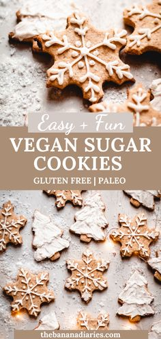 These are my all time FAVORITE vegan sugar cookies ever! And they just so happen to be Paleo and gluten free! I top mine with a vegan royal icing- they're so easy to make and taste better than the classic!