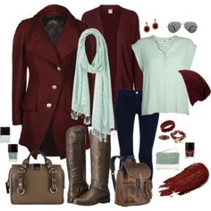 """#Oxblood & #Mint"" by style-inspiration-and-design on Polyvore"