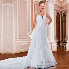 Sexy White Pearls Lace Wedding Gowns A Line Backless Bridal Dresses Beads Vestido de noiva Brazil Retail Strapls H001