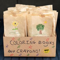 Service Project : Care package w/ coloring book & crayon.... maybe for kids at local ER?