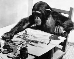 Congo the chimpanzee (1954 – 1964) is considered the greatest animal painter in history. He produced about 400 drawings and paintings between the ages of 2 and 4. His artwork provoked strong reactions ranging from scorn to skepticism. Pablo Picasso was a big fan of his and had one of his paintings displayed in his studio. In 2005, three of his paintings were included in an auction alongside works by Renoir and Warhol and were sold for more than 26,000 US dollars. He died of TB at the age of…