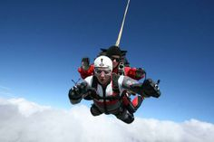 """""""A daredevil user just booked a Skydive thriller in Queenstown. So, are you ready to take a leap of faith? Tandem Jump, Drop Zone, Leap Of Faith, Skydiving, Daredevil, Thriller, Darth Vader, Marvel, London"""