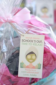 Spa Gift Basket Teacher Gift