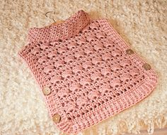 Crochet PATTERN Rose Poncho Pullover sizes por monpetitviolon