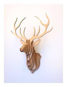 Deer Head Stag Trophy (Medium) by CliveRoddy on Etsy https://www.etsy.com/listing/93350523/deer-head-stag-trophy-medium
