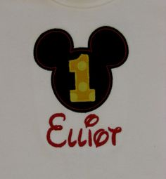 Boys Mickey Mouse Mr Mouse Appliqued Shirt or by SweetLilDesigns, $22.00