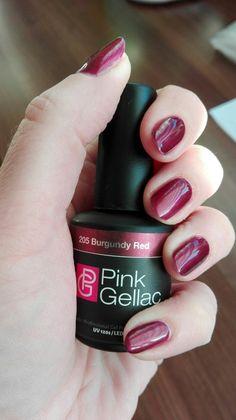Pink gellac - Burgundy red.
