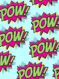 "Wallpaper ""Pow!"""