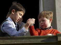 Denmark's Prince Nikolai and Prince Christian....too funny <3