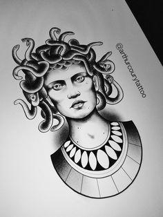 Medusa www.instagram.com/arthurcourytattoo