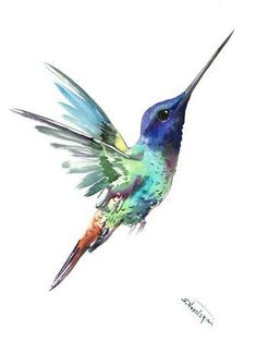Flying Hummingbird Flying Bird, Turquoise Blue Elegant Bird Minimalist Design Mini Art Print by Surenart - Without Stand - x Hummingbird Drawing, Watercolor Hummingbird, Watercolor Bird, Hummingbird Illustration, Hummingbird Tattoo Black, Hummingbird Symbolism, Hummingbird House, Hummingbird Nectar, Hummingbird Food