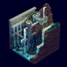 Fantasy castle - Voxelart