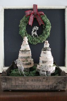 diy wood slice christmas trees, christmas decorations, crafts, diy, home decor
