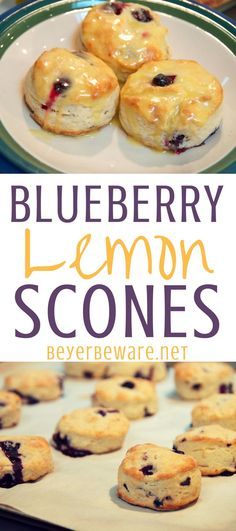Blueberry Lemon Scones are the perfect spring breakfast or treat with your morning coffee or afternoon tea. These blueberry scones are flaky and flavorful with the hint of lemon flavor. #scones #Blueberry #Lemon