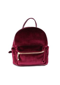 709273303d0 Mini Velvet Backpack in Burgundy   Necessary Clothing Accessories Shop,  Handbag Accessories, Mini Backpack