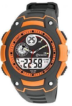 ad6102155 5 ATM Water-proof Digital-analog Boys Girls Sport Digital Watch with Alarm  Stopwatch Chronograph (Orange)