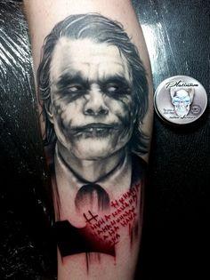 Amazing joker tattoo