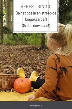 Download gratis deze herfst bingo en je hebt ongetwijfeld een leuke middag in het bos! Bingo, Halloween Crafts, Kids And Parenting, Cool Kids, Fall Decor, Activities For Kids, Free Printables, Pumpkin, Outdoor