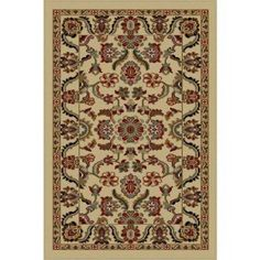 Bliss Rugs Bancroft Traditional Area Rug, White