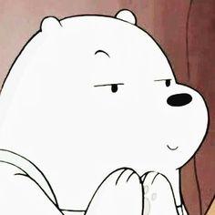 *planning something evil Ice Bear We Bare Bears, We Bear, Bear Wallpaper, Kawaii Wallpaper, Polar Bear Cartoon, We Bare Bears Wallpapers, Cartoon Profile Pictures, Cartoon Icons, Cute Memes