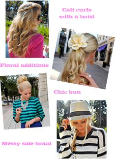 Fash Boulevard: A Girl's Guide To Spring Hair. Super cute!