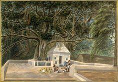 A small temple beneath the Bodhi tree, Bodh Gaya, c. 1810. From an article on Trees of Life from Mythology Magazine. www.mythologymagazine.com