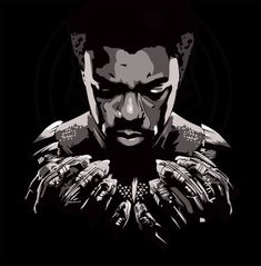 """herochan: """"Black Panther Art by Devin Doty """" Black Panther Art, Black Panther Marvel, Captain America, Captain Marvel, Dope Wallpapers, Animes Wallpapers, Black Panther Chadwick Boseman, Black Cartoon Characters, Warrior King"""