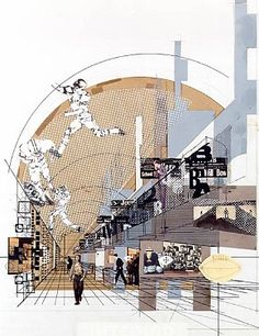 National Collegiate Football Hall of Fame (Competition), Collage Perspective, 1967 - Robert Venturi