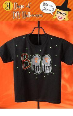 diy halloween diy halloween boo ghost shirt diy halloween decor - Homemade Halloween Shirts