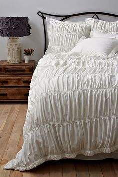 More than just plain white Anthro bedding