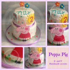 "Peppa Pig cake *all handmade*  6"" and 8"" vanilla with jam"