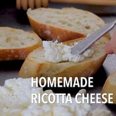 Once you start making your own Homemade Ricotta Cheese, you will never buy commercial again! It's so versitile, it can be used in Italian desserts and savory dishes. Italian Soup, Italian Pasta, Dessert Recipes, Pasta Recipes, Vegan Recipes, Cooking Recipes, Italian Christmas Cookies, Italian Appetizers, Best Italian Recipes