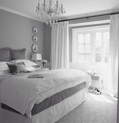 Love the bed decor.
