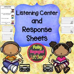 FREE Resource! Hold students accountable at Listening Center with the response cards. Set out the directions page so students know what is expected.
