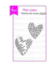 Ces matrices de coupe (dies) en métal vous permettront de découper des coeurs stylisés pour embellir vos cadeaux et vos créations.
