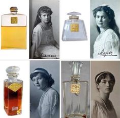 Romanov daughters with their favorite Coty perfumes