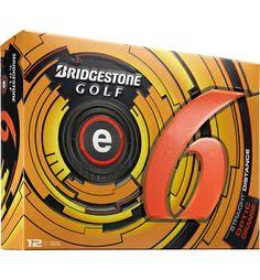 Bridgestone Logo e6 Golf Balls (Orange)