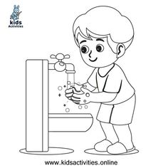 Free ! wash your hands coloring pages ⋆ Kids Activities Cool Coloring Pages, Coloring Sheets, Coloring Books, Free Printable Worksheets, Free Printable Coloring Pages, Doodle Coloring, Hand Coloring, Teaching Kids, Kids Learning
