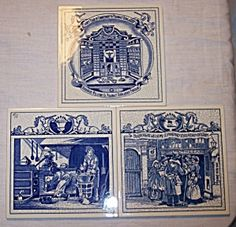 Delft porcelain pill tiles Burroughs Wellcome pharmacy