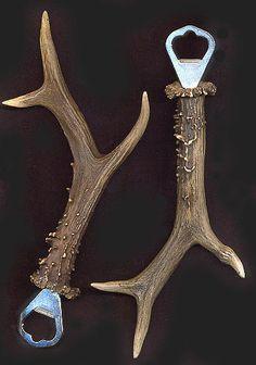 pics of items made with deer horn | ... & Designs Inc.: Antler Bottle Opener (Large Trophy Roe Deer Type 2