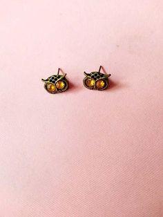Cute Big Eye Owl Stud Earrings