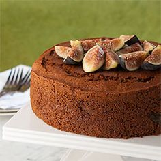The easiest honey cake, ever. Two-bowls, one spoon. Honey Orange Fig Cake.