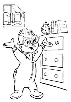 all alvin and the chipmunks coloring pages httpcoloringspacecomall - Realistic Chipmunk Coloring Pages