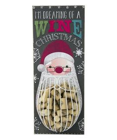 Look what I found on #zulily! 'I'm Dreaming Of A Wine Christmas' Wine Cork Cage #zulilyfinds