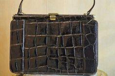 Vintageväska i Krokodilskinn