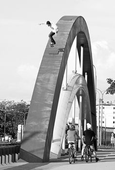 Skateboarding the structure