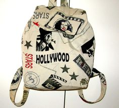 Backpack << Hollywood Stars>> - Stylish Backpack - Tablet Βags - School Backpacks For Girls - Special Gift For Girls.
