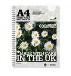 "Buy the new ""Silvine R302 Co2 Neutral A4 Twin Wire Notebook White 120 Pages Pk5"" online today. Now in stock."